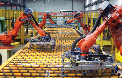 Robots in production lines
