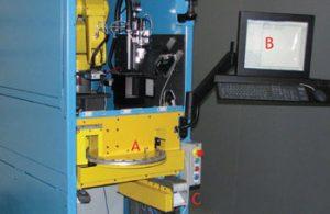 دستگاه بینایی ماشین کنترل کیفیت پره های توربین هواپیما