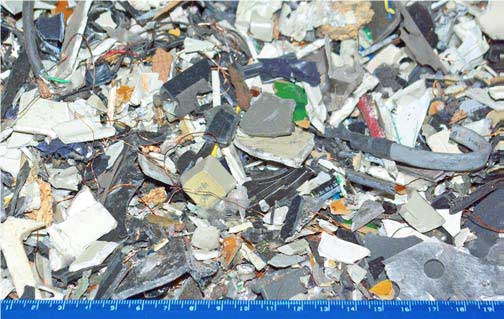Uncleared electronic waste