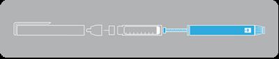 نمای کلی از مکانیزم قلم انسولین